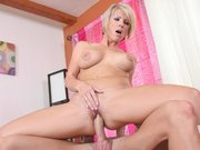 Petite MILF Kayla Synz taking big hard cock up her pussy