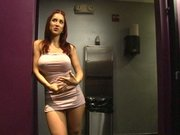 Kylee Strutt walks away to get a hard fuck in the Men s room