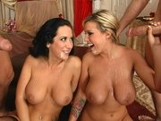 Memphis Monroe and Jayden Jaymes are receiving two massive facials