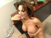 Cock hungry pornstar Deauxma receives messy facial cumblast