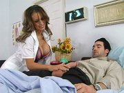 Dr. Jenna Presley sucking huge patient s cock in the hospital