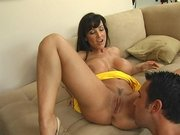 Voluptuous MILF Lisa Ann gets her juicy pussy eaten