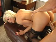 Diamond Foxxx getting slammed from the rear and doggie