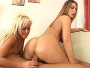 Savannah Gold and Devon Lee getting their asses deeply penetrated