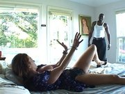 Redhead MILF Raquel Devine invites the mamba into her house