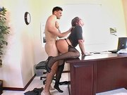 Sexy beauty Claire Dames takes big cock deep in her pussy
