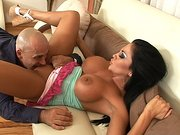 Audrey Bitoni has her snatch eaten and mouth filled with a large dick