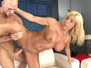 Busty MILF Misty Vonage gets intensive pussy penetration by a long shaft