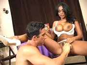 Busty MILF Priya Rai gets her cunt fingered and licked