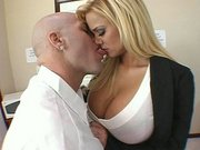 Shyla Stylez has her pussy licked and fingered in the office