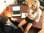 Fucking gorgeous Crista Moore talking with her boss