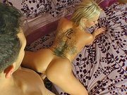 Blonde bombshell Kate Frost gets fucked in doggie and from the back
