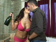 Drunked MILF Francesca Le seducing a younger guy
