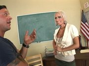 Sexy teacher Mrs. Marie decides to show him some extra curriculum