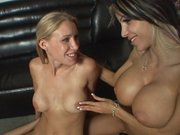 Danielle Derek teaching her girlfriend how to receive facial