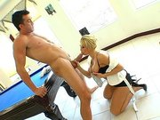 Brooke Haven went crazy and begged him to let her try that cock