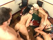 Rachel Starr, Lichelle Marie and Phoenix Marie banged in a orgy
