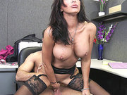 Lezley Zen riding stiff dick at work