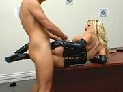 Gorgeous Shyla Stylez has her rear pole filled with meaty pole