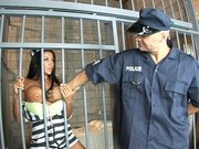 Prisoner Audrey Bitoni seducing the prison guard to break out of prison