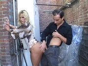 Gorgeous star Shyla Stylez getting drilled in doggie outdoor