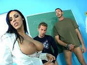 Veronica Rayne teaching theses boys a real lesson in fucking