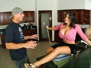 Horny mommy Daphne Rosen never misses a good chance to get cock