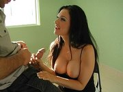 Cheating wife Aletta Ocean sucking big dick