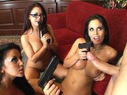 Audrey Bitoni with Eva Angelina and Mikayla gets facialized