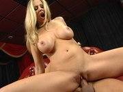 Busty MILF Julia Ann gets her shaved pussy fucked by a giant cock
