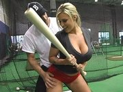 Memphis Monroe is taking batting classes from her instructor