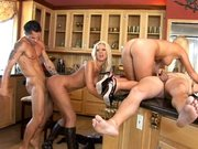 Tanya James and Ahryan Astyn are getting fucked by two studs