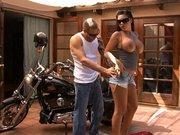 Cheating wife Mason Moore sucking bikers huge cock