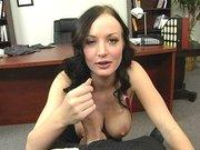 Melissa Lauren sucking and jugfucking fat cock