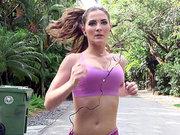 Molly Jane enjoys her morning workout