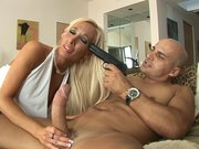 Secret agent Double 0 English making Lichelle Marie to suck his cock