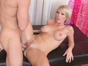 Cock hungry MILF Kayla Synz gets drilled by a big cock