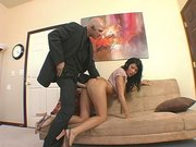 Nice chick Cody Lane getting drilled in doggie by her boss