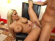 Gorgeous Shyla Stylez gets her pussy fucked and licked by a lucky guy