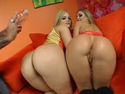 Alexis Texas and Brianna Love gets their butts slapped and oiled