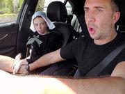 Amish babe Alexa Nova gives Keiran Lee road head