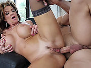 Hot anal mom Deauxma takes his young dick deep in her rectum