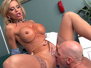 Amber Lynn lets him lick her pussy in the hospital