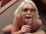 Sadie Swede wearing glasses getting her tits and throat dicked