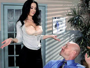 Jayden Jaymes has Johnny worship and lick her huge tits