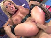 Nikki Benz gets her royal ass destroyed by a wide cock