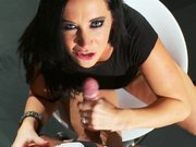 Cock hungry pornstar Jayden James sucking long shaft