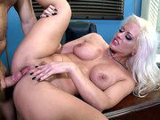 Big tits blonde Holly Heart gets humped on her office desk