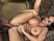 Ava Addams takes it deep on the couch