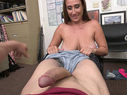 Big breasted amateur Skyler Luv giving some nice head